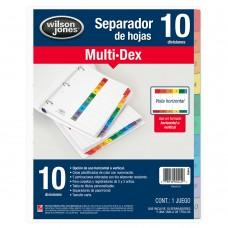SEPARADOR MULTIDEX 1-10    CARTA PZA.             [E24]