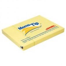 BLOCK NOTAS MEMOTIP JANEL 3 X 4   AMARILLO      100 HOJAS [C144]