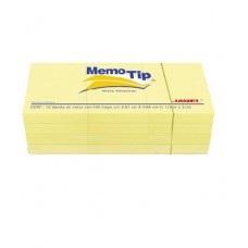 BLOCK NOTAS MEMOTIP JANEL 1.5 X 2 AMARILLO C/12 100 HOJAS [E12 C24]