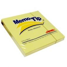 BLOCK NOTAS MEMOTIP JANEL 3 X 3   AMARILLO      100 HOJAS [E12 C144]