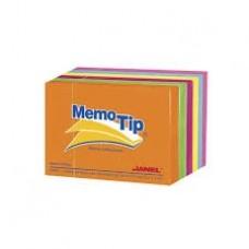 BLOCK NOTAS MEMOTIP JANEL 3 X 4   NEON          100 HOJAS [E6 C96]