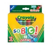 CRAYON CRAYOLA EXTRA JUMBO SOBIG C/18         [E6  C24]