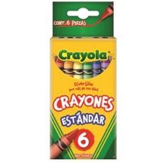 CRAYON CRAYOLA STANDAR C/6                    [C144]