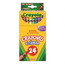 CRAYON CRAYOLA STANDAR C/24                   [E6  C72 ]