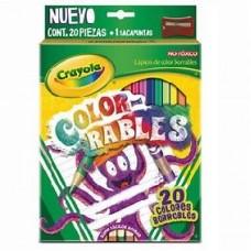 COLORES CRAYOLA C/20  LARGOS BORRABLE         [E12 C48]