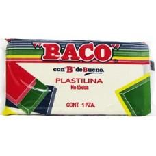 PLASTILINA BACO MARQUETA #60 BLANCA                [C100]