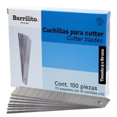 CUCHILLA DE REPUESTO P/CUTTER CHICA  10 PZAS.         [C10]