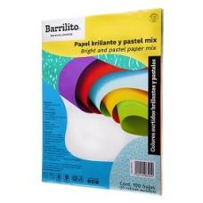 PAPEL BOND BARRILITO MULTICOLOR PASTEL CARTA C/100    [E15 C30]