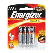 PILA ENERGIZER AAA  BLISTER C/4 E92GB4 MAX ALCALINA  [E6]